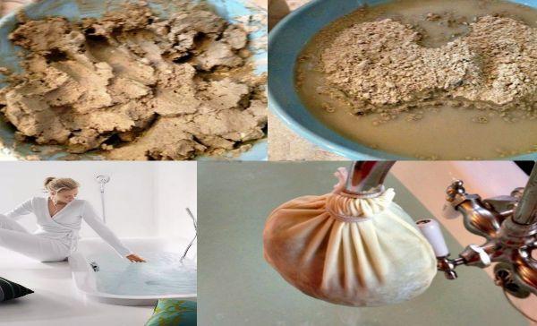 Один из способов приготовление водной процедуры с добовление лечебной глины