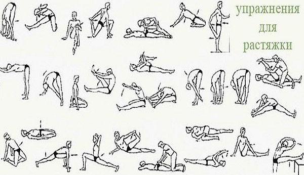 упражнение на растяжку должно длиться 10-20 секунд