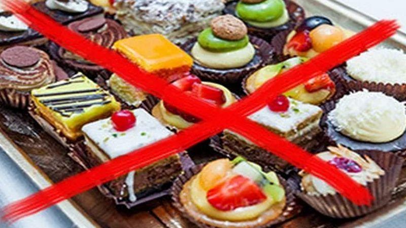 Исключить все сладкое (конфеты, сахар).